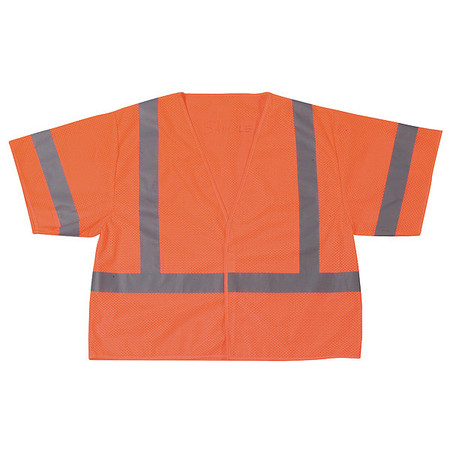 Large Class 3 High Visibility Vest,  Orange
