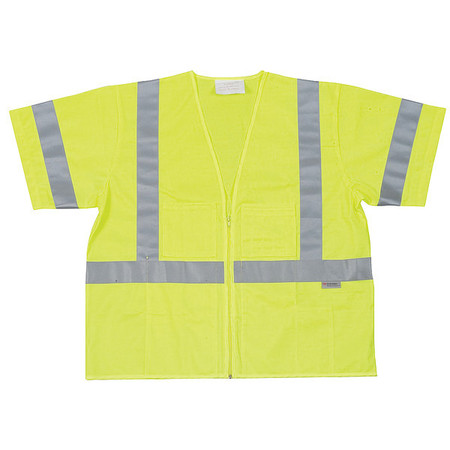 High Visibility Vest, Class 3, 2XL, Lime
