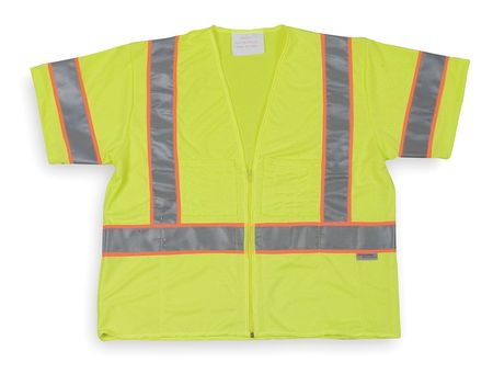 2XL Class 3 Cool Dry High Visibility Vest,  Lime