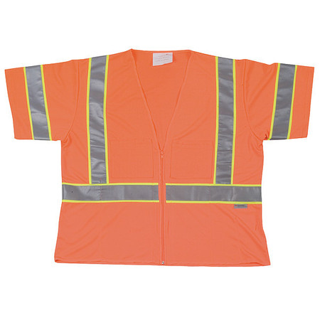 XL Class 3 Cool Dry High Visibility Vest,  Orange