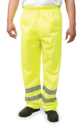 Safety Over Pants, Lime, Size 28 to 38x33