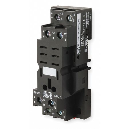 Relay Socket, Standard, Square, 8 Pin, 16A