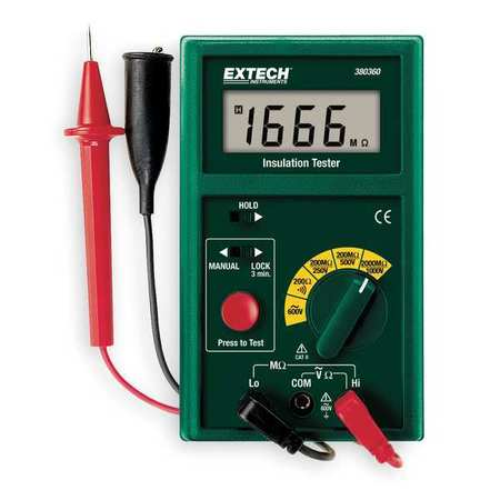 Battery Operated Megohmmeter, 1000VDC