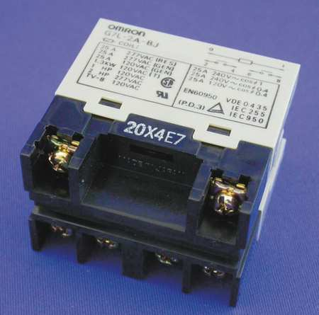 Enclosed Power Relay, 6 Pn, 120VAC, DPST-NO