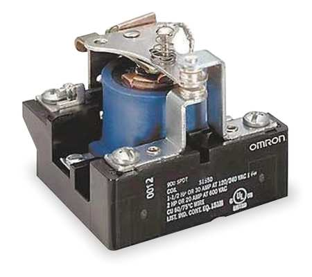 Open Power Relay, 5 Pin, 240VAC, SPDT