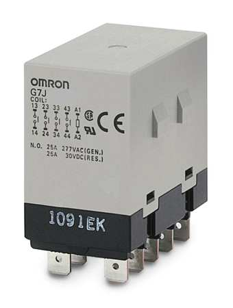 Enclosed Power Relay, 10Pin, 24VDC, DPST