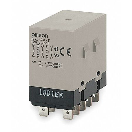Enclosed Power Relay, 10Pin, 24VAC, 3PST