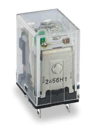 Plug In Relay, 8 Pins, Square, 120VAC