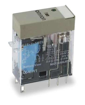 Plug In Relay, 8 Pins, Square, 12VDC