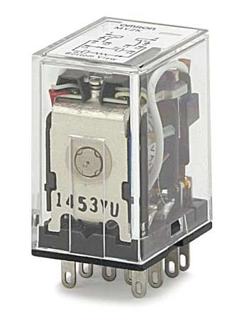 Latching Relay, 10 Pins, Square, 120VAC