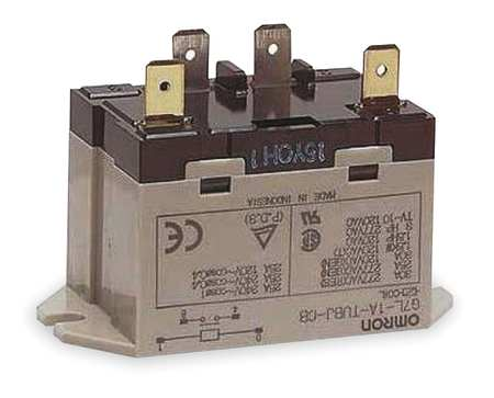 Enclosed Power Relay, 4 Pin, 24VDC, SPST-NO