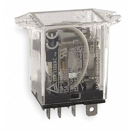 Relay, 8Pin, SPDT, 15A, 240VAC
