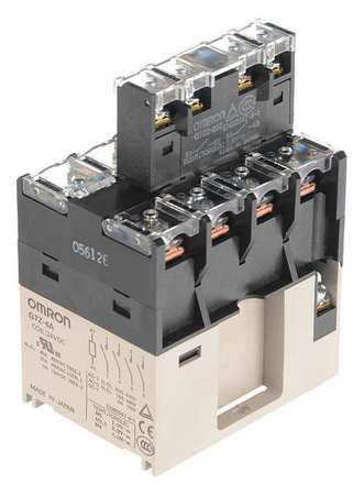 Enclosed Power Relay, 14Pin, 24VAC, 4PST-NO