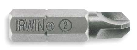 "Torsion Bit, SAE, 1/4"", Hex, #2, 1"", PK2"