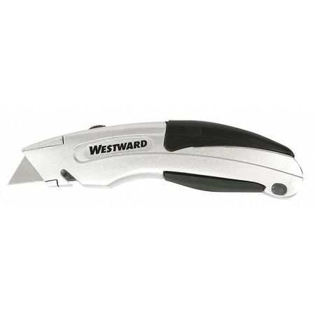 "Utility Knife, 6-3/4"" L, Black/Gray"