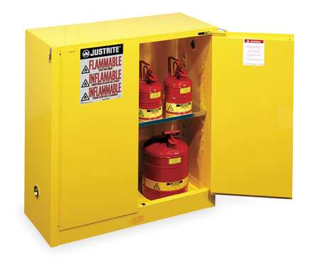 Flammable Safety Cabinet, 30 Gal., Yellow Nice Ideas
