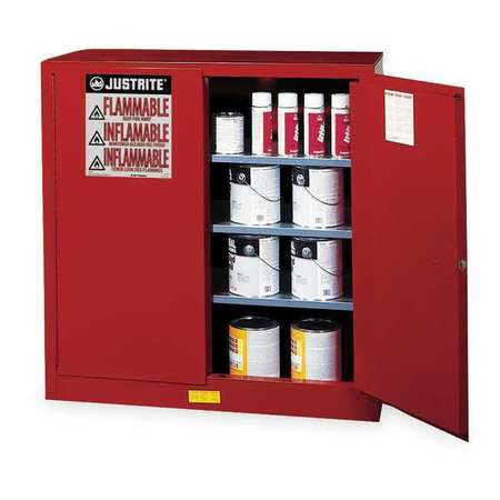 Paints and Inks Cabinet, 40 Gal., Red