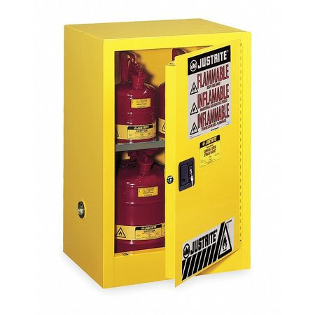 Flammable Safety Cabinet, 15 Gal., Yellow