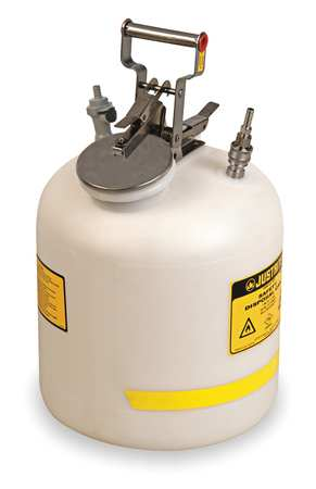 5 gal. White Polyethylene HPLC Waste Can