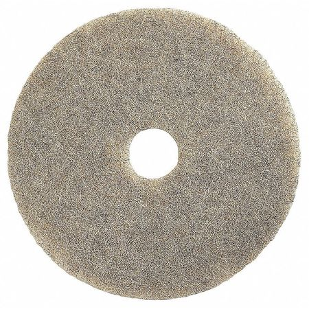 Burnishing Pad, 20 In, Beige, PK5
