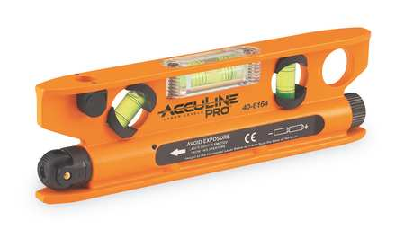 Magnetic Laser Torpedo Level, 7 1/2 In