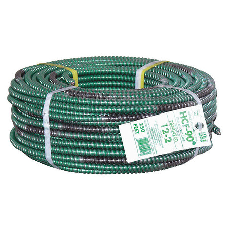 12 AWG 2 Conductor Armored Cable 20A 250 ft. GN