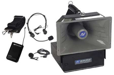 Wireless Half-Mile PA System, 15 V