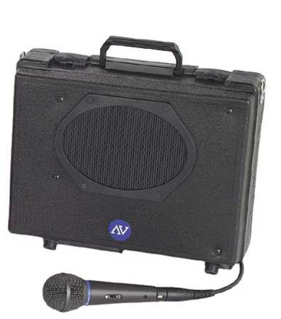 Portable PA System, H 11 In x W 13-1/2 In