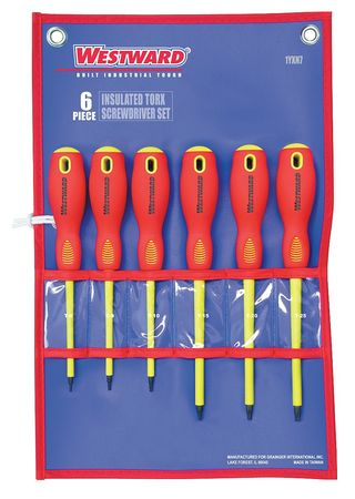 Ins. Screwdriver Set, Torx(R), 6 Pc