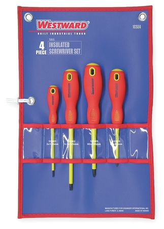 Ins. Screwdriver Set, Slot/Phillips, 4 Pc