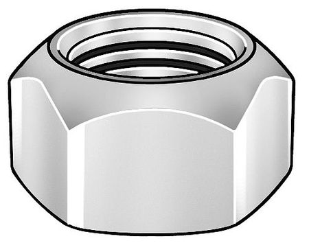 "3/4""-16 Grade 9 Zinc Plated Finish Steel Top Lock Nut,  50 pk."