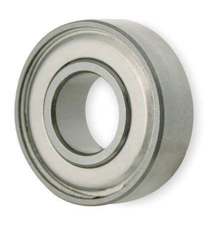 Mini Ball Bearing, Shielded, Bore 0.2500In