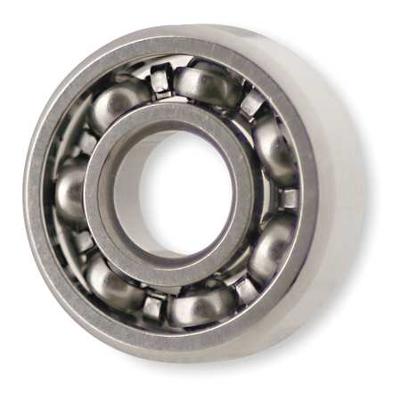 Mini Ball Bearing, Open, Bore 0.1875 In