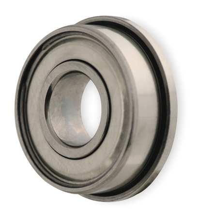 Mini Ball Bearing, Flanged, Bore 0.2500 In