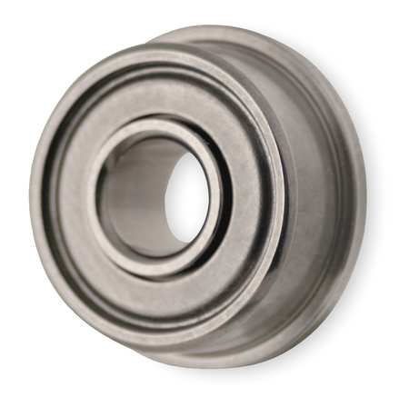 Mini Ball Bearing, Flanged, Bore 0.0937 In