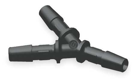 Y Connector, 1/4 In, Barbed, Nylon, PK10