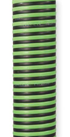 "3"" ID x 100 ft Rubber Discharge & Suction Hose BK/GN"