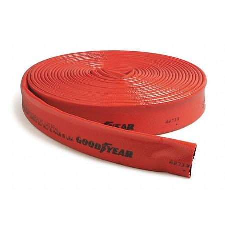 "3"" ID x 300 ft Rubber Water Discharge Hose RD"