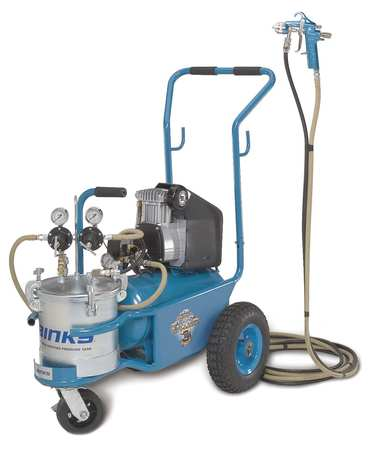 HVLP Paint Sprayer, 1 Stage, 2.8 gal.