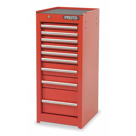 "15"" Side Cabinet,  9 Drawers,  Red"