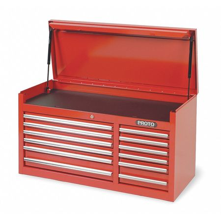 "41"" Top Chest,  12 Drawers,  Red"
