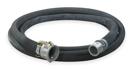 "2"" ID x 25 ft Rubber Water Discharge Hose BK"