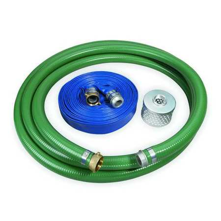 Pump Hose Kit, 3 In ID, Includes Strainer