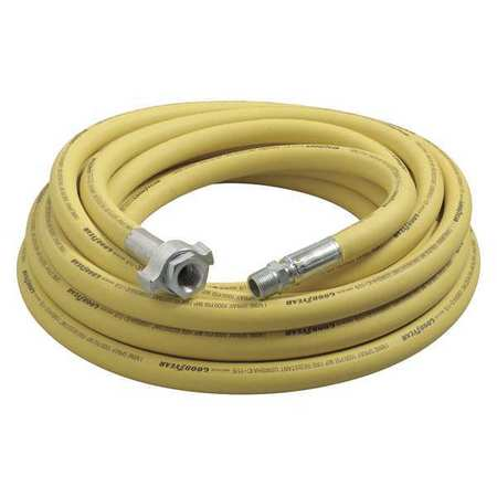 "3/4"" ID x 50 ft Nitrile Coupled Air Hose 1000 PSI YL"