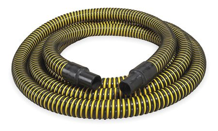 "1-1/2"" ID x 20 ft PE Discharge & Suction Hose BK/YL"