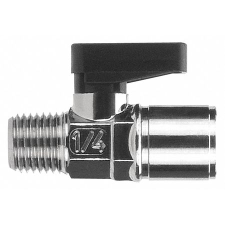 "3/8"" FNPT x MNPT Nickel Brass Mini Ball Valve Inline"