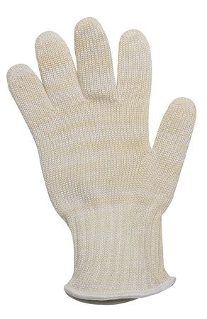 Heat Resistant Glove, Yellow/White, L