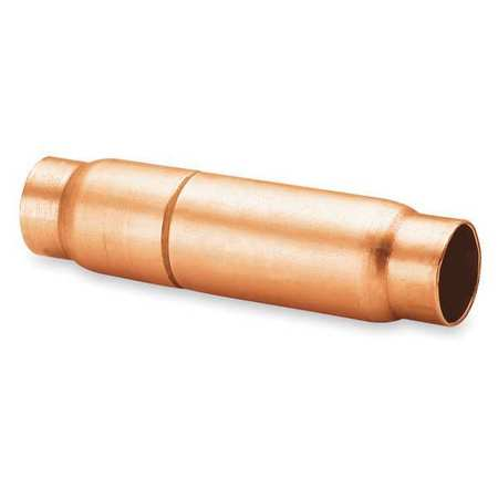 Copper Check Valve, 7/8 Dia x 4 1/2 In L