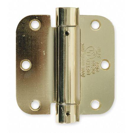 Spring Hinge, Steel, 3-1/2In H, 3-1/2In, PK2