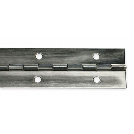 Piano Hinge, Pewter, 6 ft. L, 2 In. W